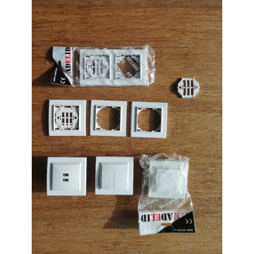 Ramki, przełączniki, USB, podwójne quadra adelid