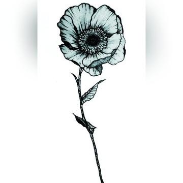 Tatuaż tymczasowy kwiat FAKE TATTOO