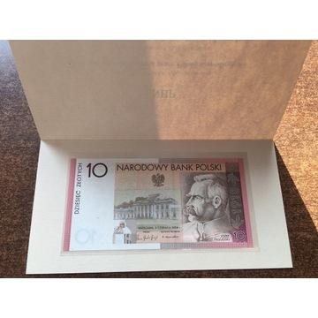 Józef Piłsudski 10zl - banknot kolekcjonerski