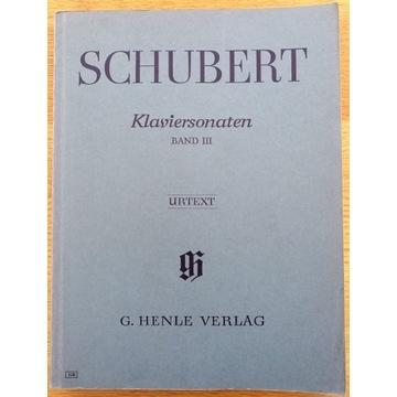 """SCHUBERT """"Klaviersonaten"""" Band III"""