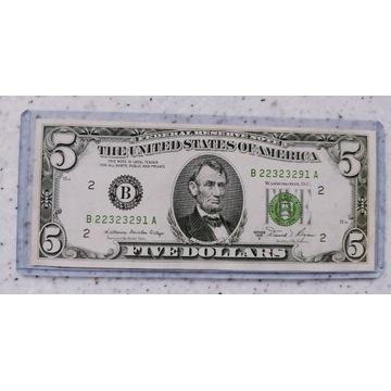 5  Dolarów USA 1981r A Rzadki