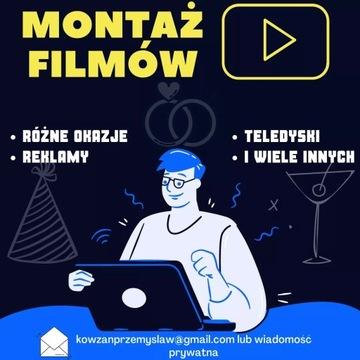 MONTAŻ FILMÓW LEKTOR REKLAMA TELEDYSK YOUTUBE