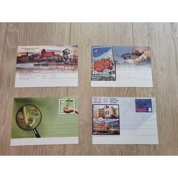 Całostki 16 kart pocztowych 2020
