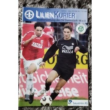 Program meczowy SV Darmstadt 98 FC Augsburg 2005 r