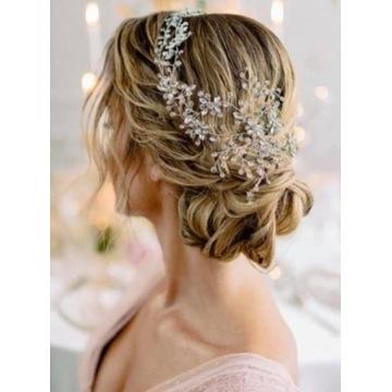 Ozdoba do włosów ślub Novia Blanca Lidan Silver