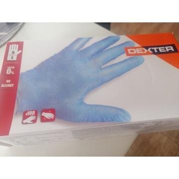 Rękawice nitrylowe do użytku jednorazowego.
