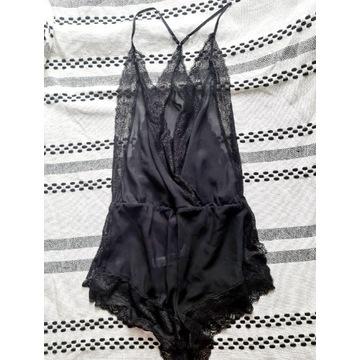Kombinezon bielizna pidżama czarna koronka XL/nowy