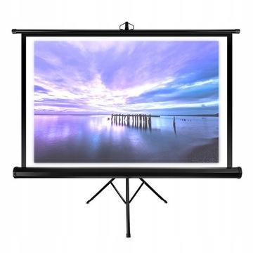 Ekran projekcyjny Overmax na statywie