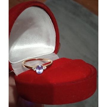 Sprzedam złoty pierścionek r.16