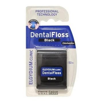 Elgydium Clinic Dental Floss, nić den. czarna, 50m