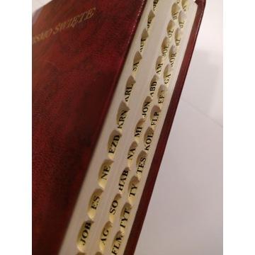 Biblia Warszawska, Brytyjka, średni format, indeks