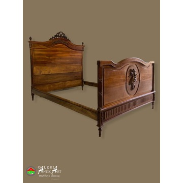 Przepiękne łóżko eklektyczne ORYGINAŁ Francja XIXw