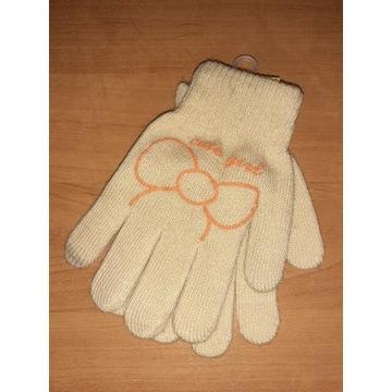 Rękawiczki dziecięce beżowe dla dziewczynki 16cm