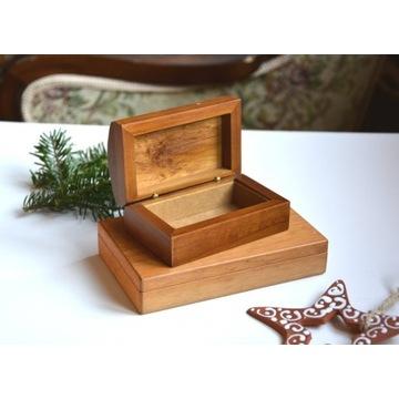 2 x drewniana szkatułka
