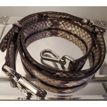 Pasek do torebki Kors skóra wąż nowy wężowy
