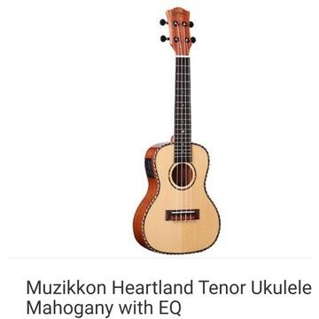 Ukulele Koncertowe Heartland  3 w 1 firmy Muzikkon