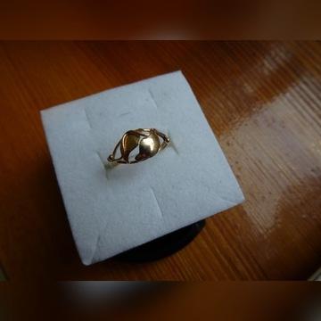 Złoty pierścionek .roz.11
