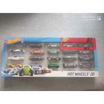 Nowy zestaw samochodzików Hot Wheels 20 sztuk