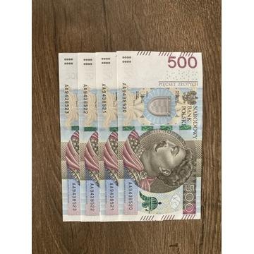 Banknoty 500 zł (limitowana edycja )