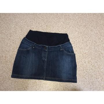 Krótka jeansowa spódnica ciążowa rozm. M/L
