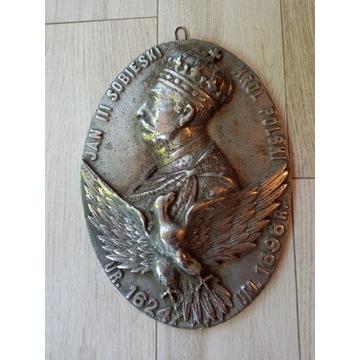 plakieta Jan III Sobieski XIX w oryginał