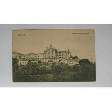 pocztówka Lublin kościół Dominikanów  1914