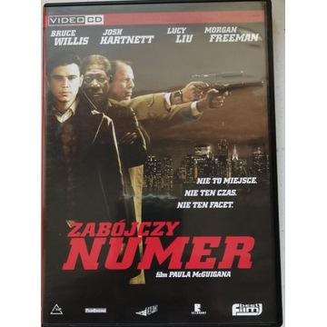 """FILM """"ZABÓJCZY NUMER"""" VCD, 2 PŁYTY, PUDEŁKO."""