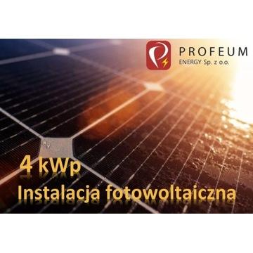 Instalacja FOTOWOLTAIKA / PV 4 kWp wraz z montażem