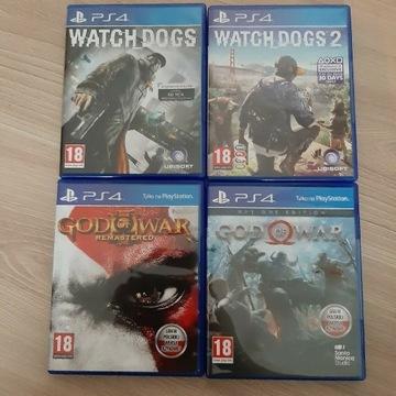 Zwstaw gier ps4 bcm wach dogs god of war