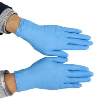 Rękawiczki nitrylowe, rozmiary M i L