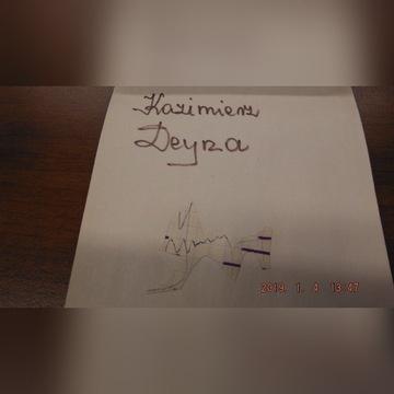 Autografy KAZIMIERZ DEYNA. Piłkarze CWKS Legia War