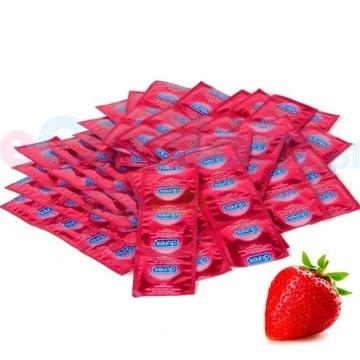 50 szt DUREX SELECT TRUSKAWKA Prezerwatywy smakowe