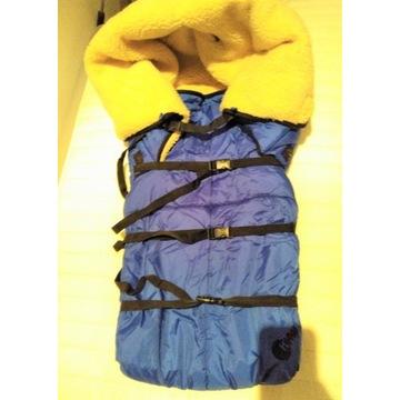 Cieplutki śpiwór dla dziecka do sanek lub wózka!