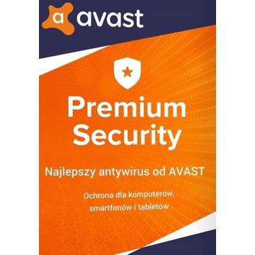 AVAST PREMIUM SECURITY 1 PC / 1 ROK AVAST NOWY!!!