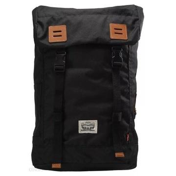 LEVIS plecak FLAPOVER czarny