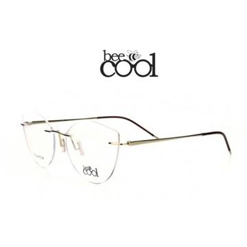 Oprawki Okulary patentki złote metalowe bee Cool