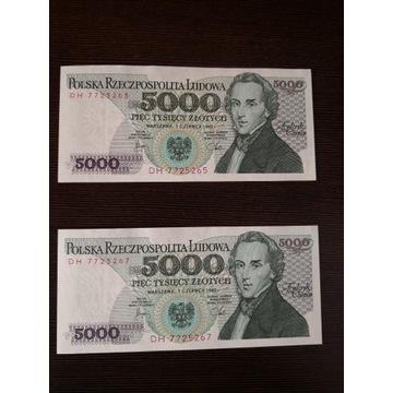 5000 ZŁ FRYDERYK CHOPIN 1982 SER. DH