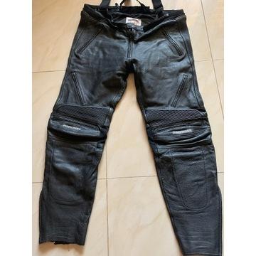 Skórzane spodnie motocyklowe rozmiar XXL