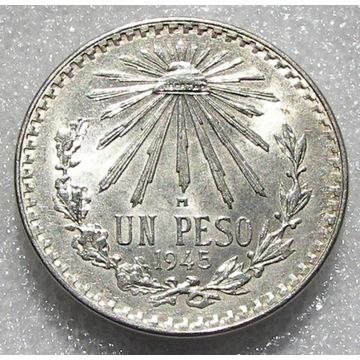 Meksyk 1 peso 1945r. - srebro