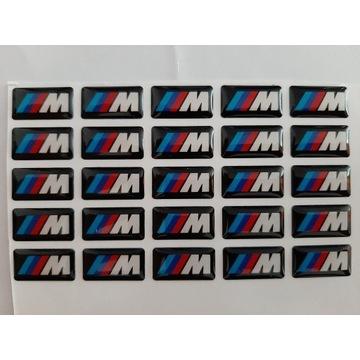 Emblemat BMW ///M pakiet na felgi kierownicę zegar