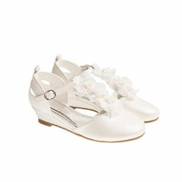 NOWE baleriny, pantofelki komunijne, ślubne 37