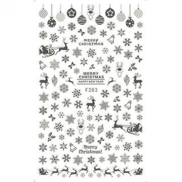 Naklejki na paznokcie Christmas / Śnieżynki
