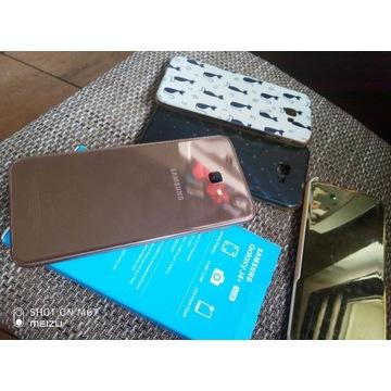 Samsung Galaxy J4+ GOLD szkło 3x etui ideał