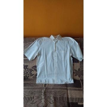 Koszula wizytowa krótki rękaw Ecru STAN IDEALNY