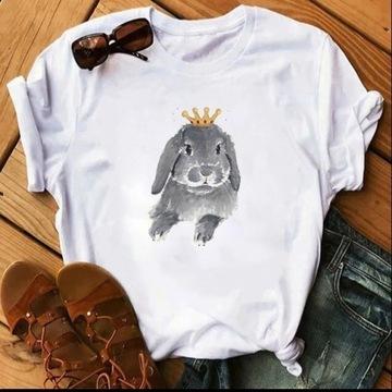 Koszulka t-shirt krolik baranek miniaturowy S-XXL