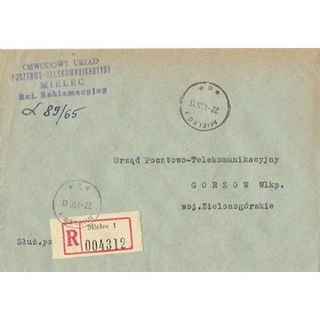 Mielec - Koperty listów poleconych 1960-80