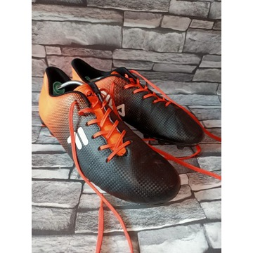 Męskie buty piłkarskie korki Fila r 44 czarno-poma