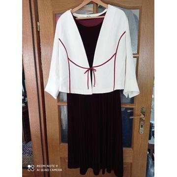 Komplet, żakiet i sukienka, r. 46