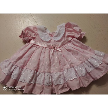 Sukienka retro niemowlęca, sukienka dla lalki