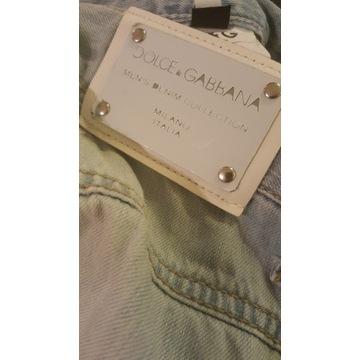 Dolce&Gabbana oryginalne męskie spodenki jeans